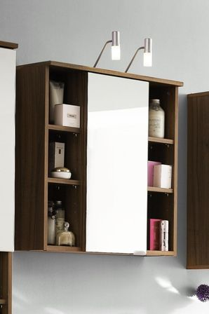 Walnut bathroom furniture uk - Bathroom Mirror Cabinet In Different Interiors