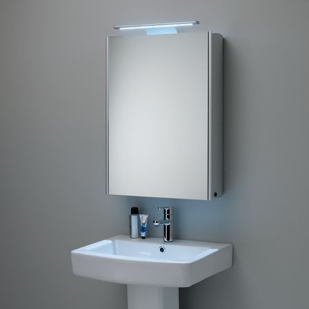 Bathroom Mirror Lights John Lewis double door mirrored frameless cabinet adds stylish storage view