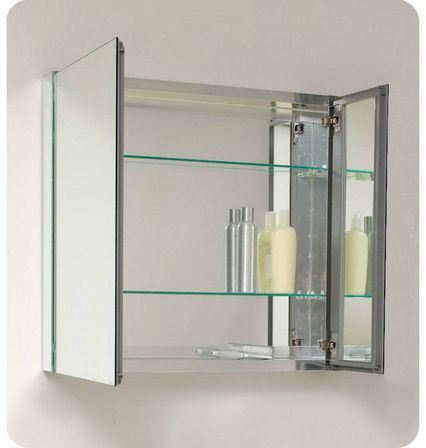 Bathroom mirror cabinet - Bathroom Mirrored Cabinet Easily Fits In Any Style