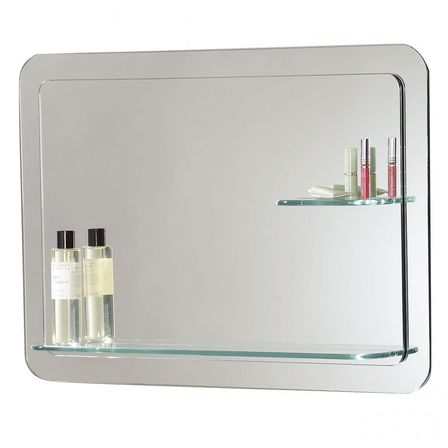 Bathroom Mirrors With Shelf choosing bathroom mirror with shelf: shape, materials and color