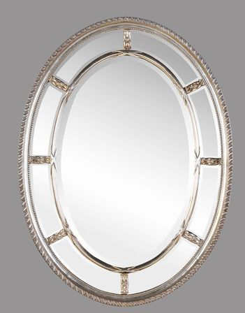 Oval Bathroom Mirrors In History Inspired Bathroom Interiors