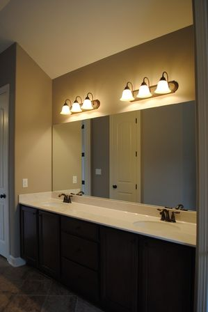 Six lighting concepts for bathroom mirrors: pros and cons ...:Large Bathroom Mirror With Awesome Bathroom Vanity Lighting Ideas,Lighting