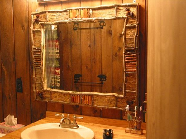 rustic bathroom mirrors | bathroom designs ideas