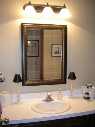Choosing bathroom mirror with shelf shape materials and for How high should a bathroom vanity be