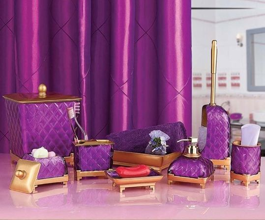 Whole bathroom sets secrets that no one else knows about for Purple and yellow bathroom ideas