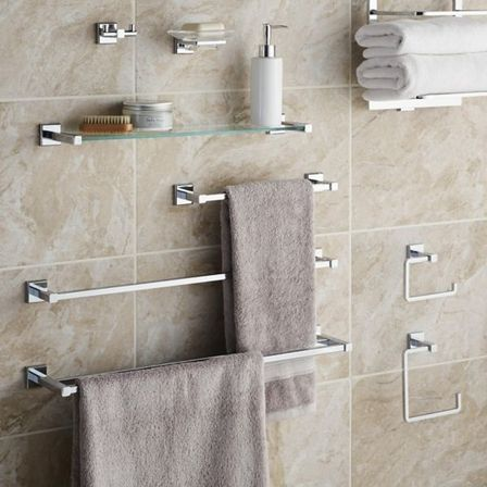 Modern bathroom accessory sets want to know more for Bathroom hardware ideas
