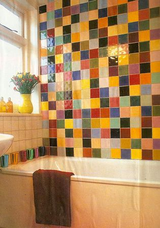 Colorful bathroom sets the ultimate solution bathroom - Azulejo para banos ...