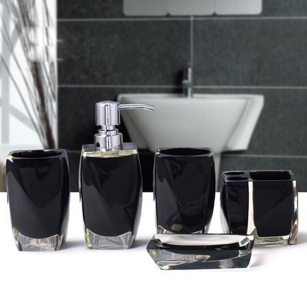 Modern bathroom accessory sets want to know more for Bathroom accessories collection
