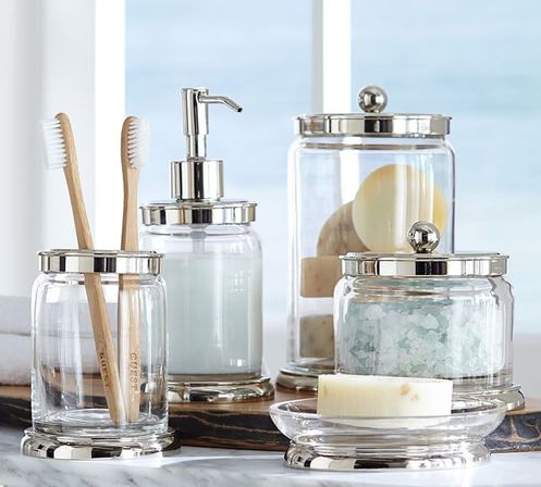 Modern bathroom accessory sets want to know more for Bathroom countertop accessories sets