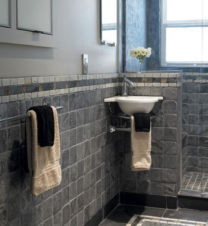 Complete bathroom sets what experts are not saying and for Slate tile bathroom ideas