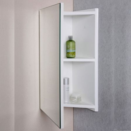 Corner Bathroom Mirror Variants With Cabinets