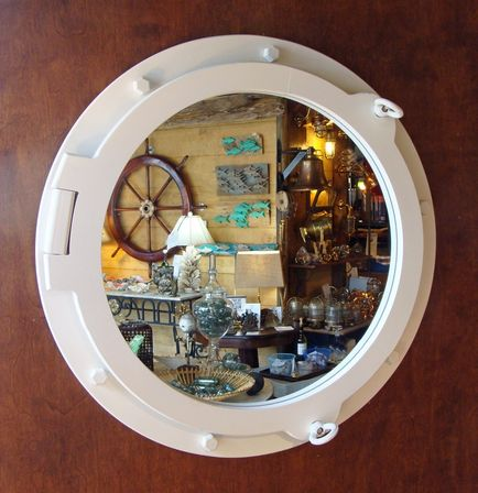 Nautical bathroom mirror special aspects of the sea style for Porthole style mirror