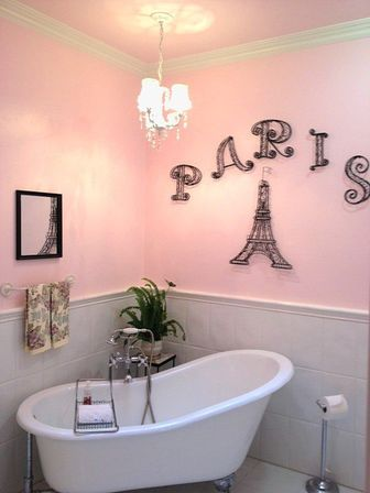 paris decor for bathroom: theme ideas and styles for walls