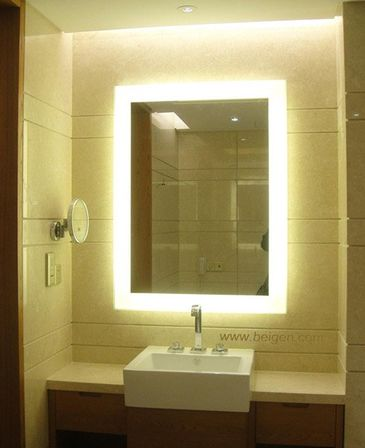bathroom mirror backlit illuminated bathroom mirror for stylish interior 11003