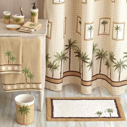 Decorating The Bathroom With Palm Tree Leafs You Will Definitely Understand If Are Real Fan Of This Interior Style Or Just Randomly Liked It