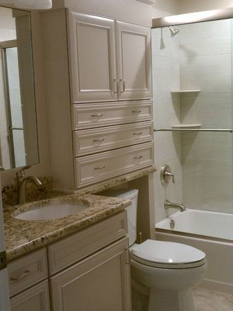 The Bathroom Cabinets Over Toilets With Opened Shelves Is Also A Pretty Elegant And May Be Even Feminine Solution As You Can Definitely Decorate